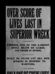 The Associated Press' account of the loss of The Cypress.