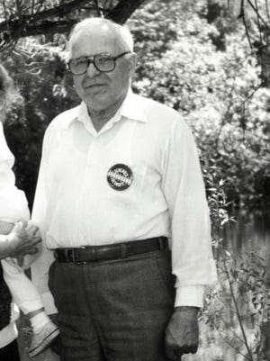 In this May 22, 1990, file photo, Michael Karkoc whom The Associated Press identified as a former commander in an SS-led unit stands in Lauderdale, Minn. Poland will seek the arrest and extradition of Karkoc, a Minnesota man, after confirming he was a Nazi unit commander suspected of ordering the killing of 44 Poles during World War II, a prosecutor said Monday, March 13, 2017.