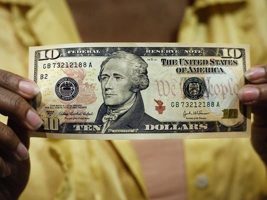 $10 bill; ten dollar bill