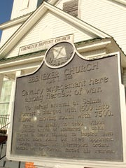 This historic marker traces events of a bloody Civil War battle surrounding Stanton's Ebenezer Baptist Church in Chilton County. Alvin Benn/Special to the Advertiser