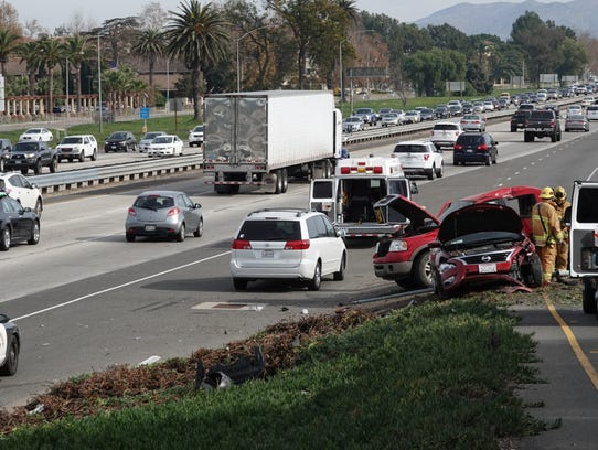 Drivers on Highway 101 through Camarillo Saturday afternoon