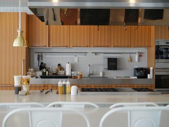 The cozy open kitchen at Heirloom Kitchen in Old Bridge.