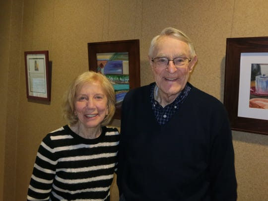 Gwen and Gene Knaebel of Redding attend the Redding Cultural Cruise on Jan 27 at Redding City Hall.