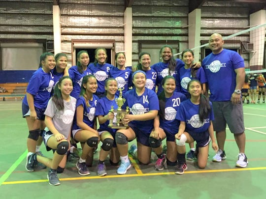 The Vicente S.A. Benavente Roadrunners won the 2015 Guam Interscholastic Sports Association middle school girls' volleyball league title with a 14-0 record.