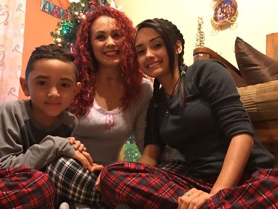 Jessica Vazquez with her children Leydimar Ortiz Vazquez,