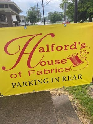 Halford's House of Fabrics is at 307 Western (Route 41), Abingdon.