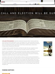 The church's website as it appeared on Oct. 5, 2016.