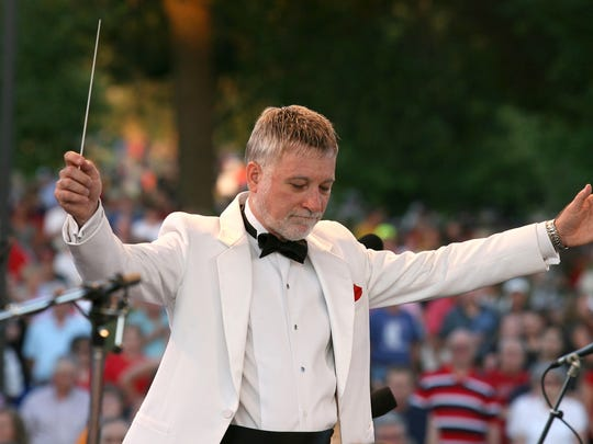 From 2009: Joseph Giunta, conductor for the Des Moines Symphony Orchestra. leads them during the Yankee Doodle Pops concert.