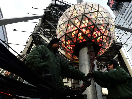 Testing of Times Square New Year's Eve Ball