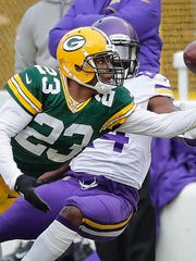 Green Bay Packers cornerback Damarious Randall (23)