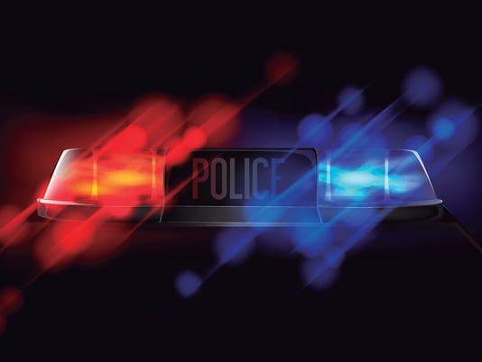 Police beacon. Red and blue emergency flashing siren.