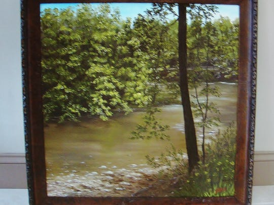 Shara Prindle's river paintings are part of her peaceful journey.
