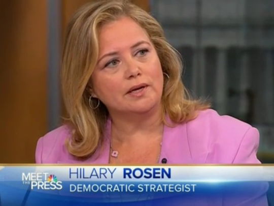 """Hilary Rosen appears on NBC's """"Meet the Press"""" in October"""