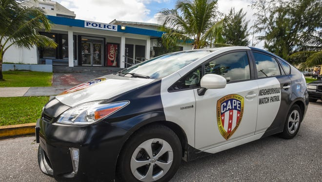 In this Dec. 2016 file photo, a Toyota Prius on lease to the Guam Police Department from Atkins Kroll Guam is seen parked in front of the GPD Hagåtña precinct.