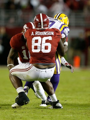 A'Shawn Robinson was selected No. 46 overall by the Lions in the 2016 NFL Draft.
