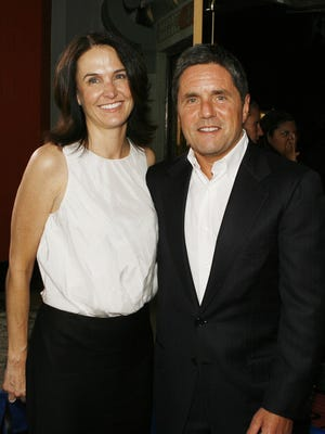 Jill Messick and Paramount's Brad Grey at the premiere of 'Hot Rod' on July 26, 2007 in Los Angeles.