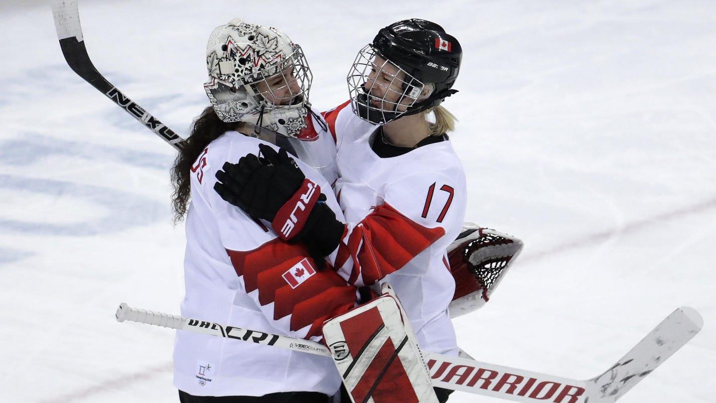 Canada women beat Russia 5-0, meets US in hockey final