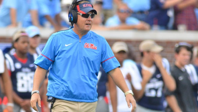 Ole Miss coach Hugh Freeze has spent more time with the Rebels' defense as of late.