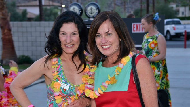 Modernism Week board member Maureen Erbe with Beth Edwards Harris who owns the Kaufmann House and is a major donor to architectural preservation efforts.