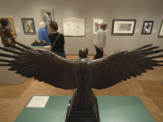 In this 2009 file photo, museum-goers view the Birds In Art exhibit at Leigh Yawkey Woodson Art Museum.