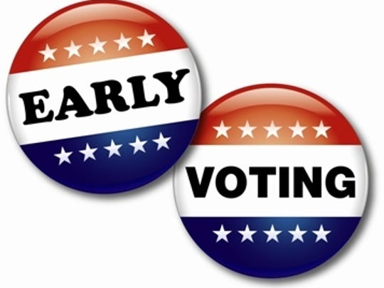 Early voting for the Nov. 8 elections will run from 8:30 a.m. to 6 p.m. Oct. 25 through Nov. 1, with the exception of Sunday, Oct. 30, at  registrars of voters' offices throughout Central Louisiana. A second site in Rapides Parish will be available in Kees Park Community Center in Pineville.