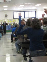 Residents of Huntington on Tuesday show support for