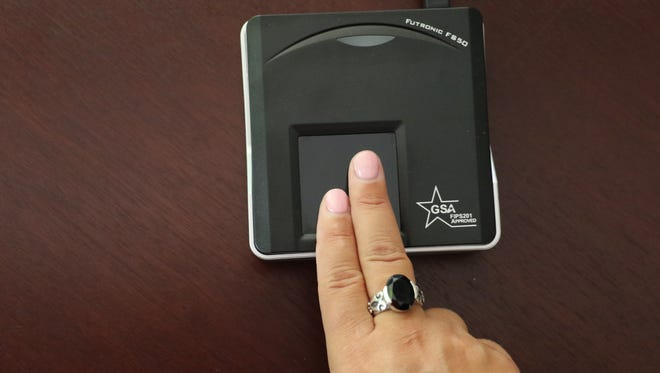 During Alaska Airlines' test program at Mineta San Jose International Airport, fingerprint readers at the boarding gates were able to pull up a passenger's boarding pass for the gate agent to review.