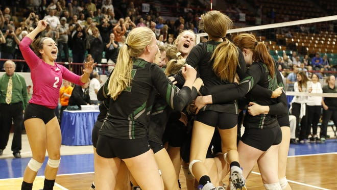 The Fossil Ridge volleyball team is ranked No. 40 in the nation by MaxPreps after winning the Class 5A state title.