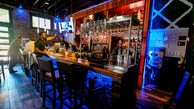 The bar inside Downtown Social House which opens Wednesday in the former Bacchus space in downtown Fort Myers.