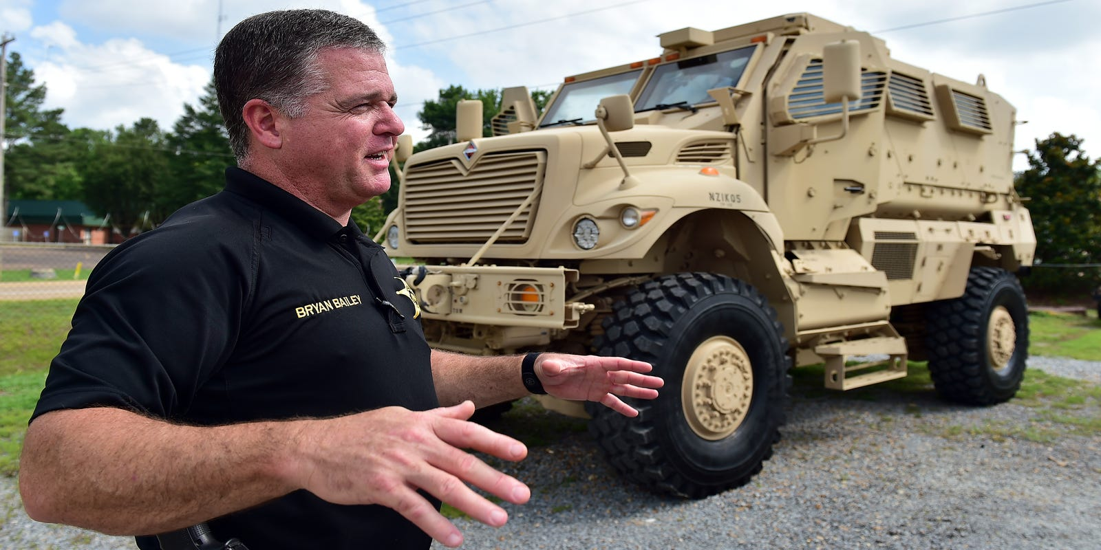 Armored truck gives sheriff 'peace' about deputy safety