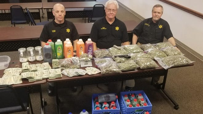 Weakley County Sheriff's Department investigators executed a search warrants Thursday, recovering drugs, guns, cash and a car.