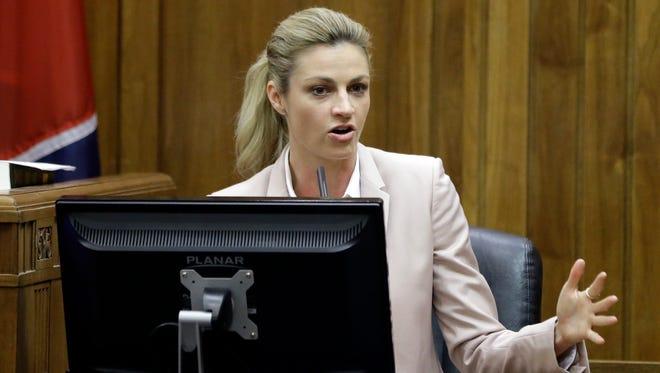 Erin Andrews testifies Tuesday in Nashville.