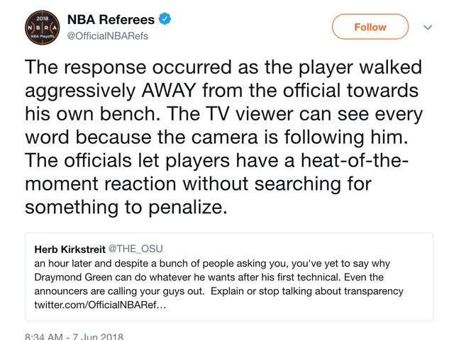 NBA Referees address Draymond Green's technicals