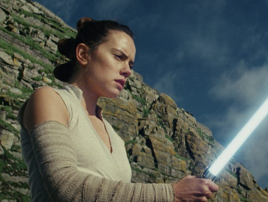 Daisy Ridley as Rey in 'Star Wars: The Last Jedi.'