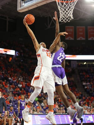 Clemson guard Avry Holmes scored his 1,000-point versus Coppin State Sunday.