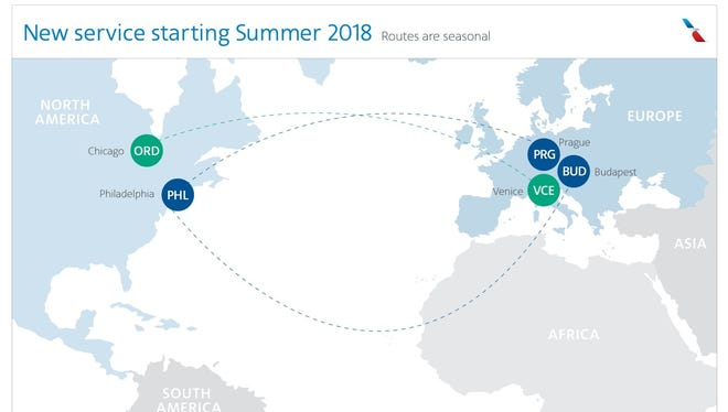 American adds Budapest and Prague to its route map