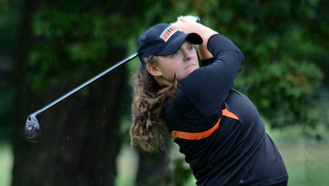 Brighton's Heather Fortushniak shot 33 to tie the school record against Grand Blanc at Warwick Hills Golf and Country Club.