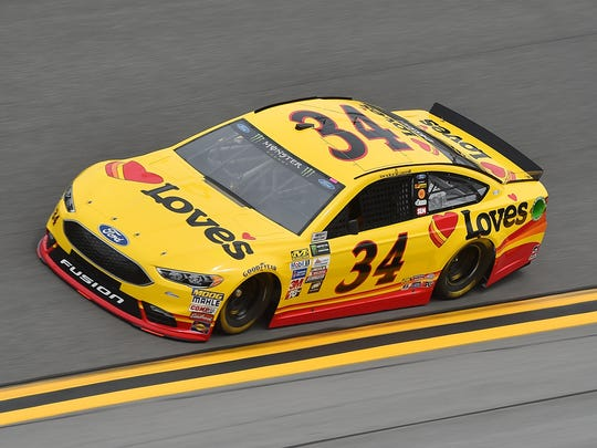 NASCAR Cup Series driver Landon Cassill (34) during practice for the Daytona 500 at Daytona International Speedway.