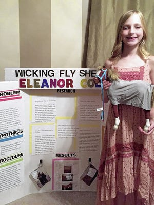Eleanor Cole, a Blacklick Elementary School student, won one of two grand-prize Edison Awards for her invention, the Wicking Fly Sheet.