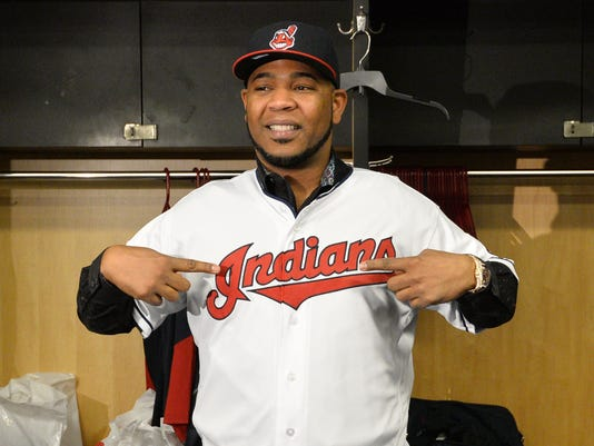 USP MLB: CLEVELAND INDIANS-EDWIN ENCARNACION PRESS S [BBA OR BBN] USA OH