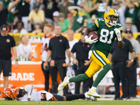 Packers receiver Geronimo Allison had a big game earlier