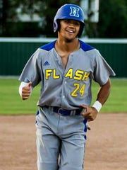 Gleaner sports writer Kevin Patton and his wife Kathy were the host family for Henderson Flash outfielder Robby McGaha.