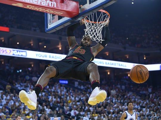 LeBron James #23, estrella de los Cleveland Cavaliers.