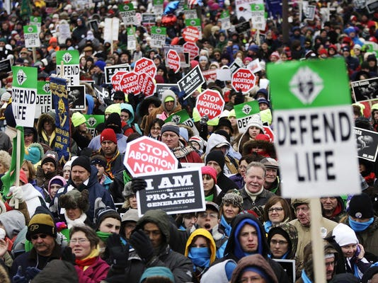 Thousands rally on the National Mall for the start of the annual March for Life rally in Washington