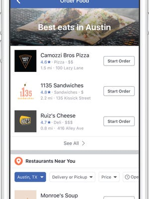 Facebook is expanding its food ordering service