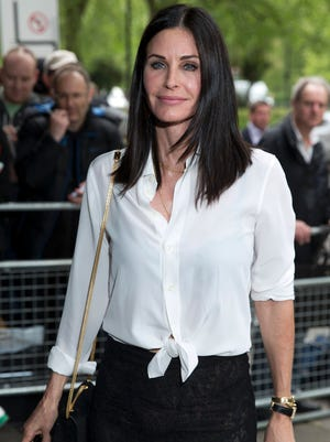 Courteney Cox talked about the pressure to look a certain way in Hollywood on 'Running Wild With Bear Grylls.'