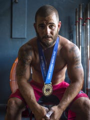 Mat Fraser won the 2016 Reebok CrossFit Games. He is seen at Champlain Valley CrossFit in Williston in August.