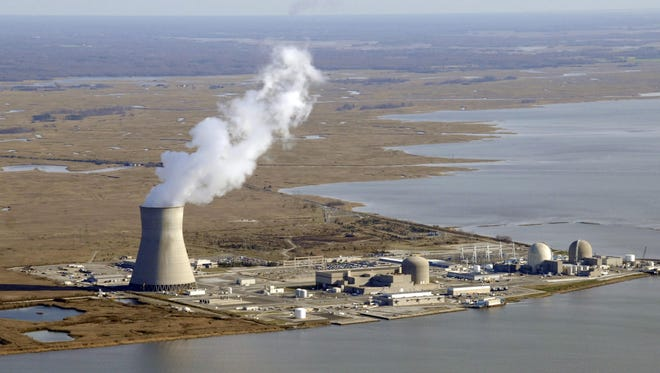 Artificial Island on the Delaware River in New Jersey is shown. A proposed transmission line connecting the nuclear complex to Delaware could add an additional $13 per month to utility bills.