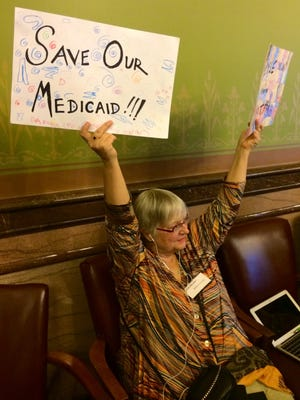 Cedar Rapids resident Melyssa-Jo Kelly, an advocate of oversight behind Iowa's Medicaid privatization, spoke before lawmakers Wednesday, Feb. 24, 2016.