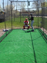 Kids who attend games at Jimmy John's Field will have a new speed pitch machine, complete with  batting and catching mannequins, to test their skills with this season.